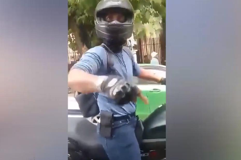 บิ๊กไบค์ปะทะรถเมล์ อ้างกูเป็นตำรวจ