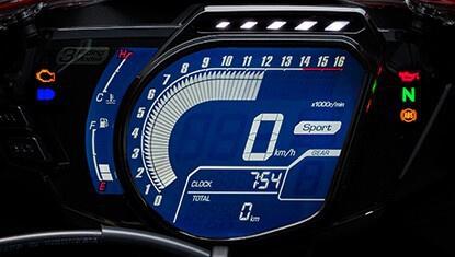 หน้าปัดเรือนไมล์แบบดิจิตอล FULLY LCD DIGITAL METER & LAP TIMER