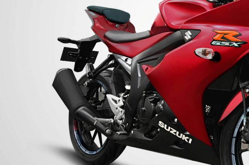 Suzuki GSX-R150 รุ่น Color Matt Red ช่วงล่างตรงท่อไอเสีย