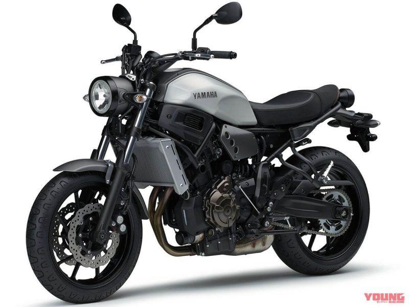 Yamaha XSR700 2019 สี Matte Gray Metallic