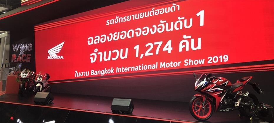 Honda คันคว้าอันดับ 1 ยอดจองมอเตอร์ไซค์ในงาน Motor Show 2019