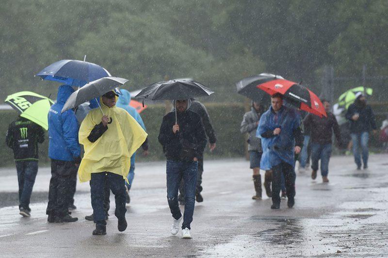 ภาพสนาม Silverstone ที่ฝนกำลังตก เมื่อปี 2018