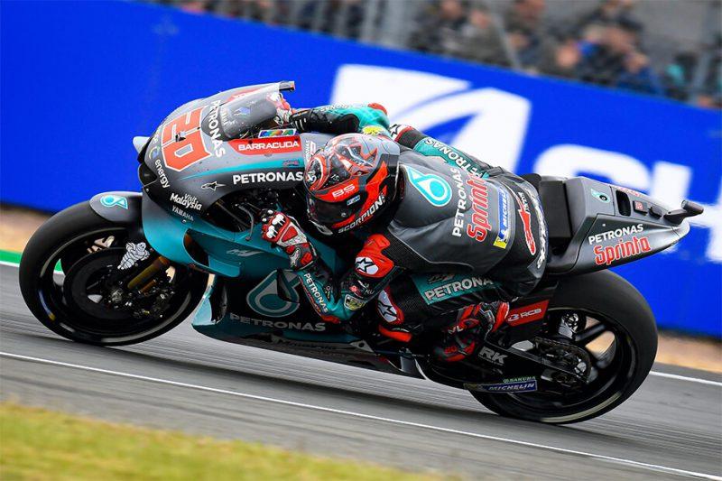 ฟาบิโอ กวาตาราโร่ นักแข่งชาวฝรั่งเศสของ Yamaha Petronas SRT MotoGP