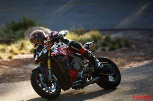 Streetfighter V4 ของ Ducati เริ่มต้นได้สวยใน Pikes Peak International Hill Climb