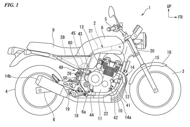 เผยสิทธิบัตรใหม่อาจเป็นรุ่น Honda CB1100