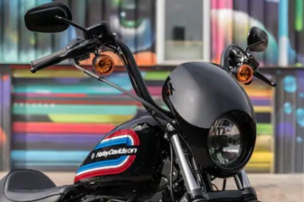 Harley Davidson Sportster Iron 1200 ชิลด์หน้าและไปหน้า