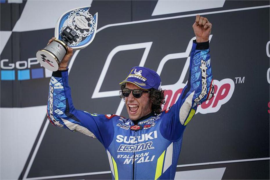 Alex Rins คว้าชัยชนะ เฉือนจ่าฝูงเพียง  0.013 วินาที เฉือนจ่าฝูงเพียง  0.013 วินาที ที่สนาม Silverstone ประเทศอังกฤษ