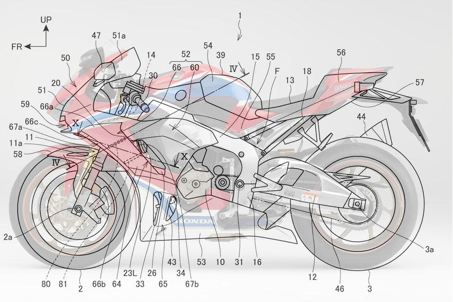 เผยภาพสิทธิบัตรใหม่ Honda CBR1000RR ปี 2020 อาจมีการเพิ่ม Ram Air