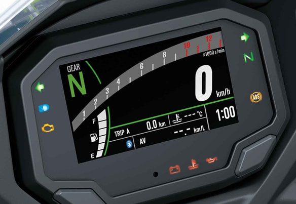 All New Kawasaki Ninja 650 2020 หน้าปัดเรือนไมล์ขนาด 4.3 นิ้วและการเชื่อมต่อ Bluetooth
