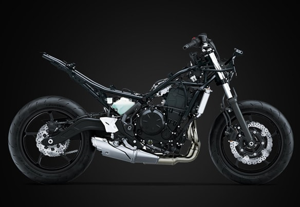 All New Kawasaki Ninja 650 2020 โครงสร้างเฟรม