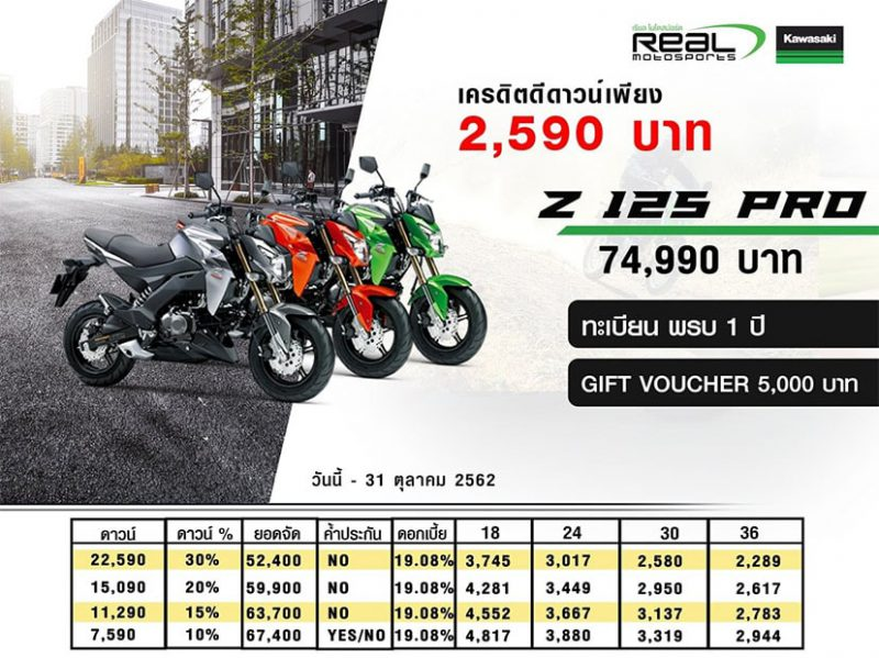 New Promotion Kawasaki Z Series รุ่น Z125 PRO
