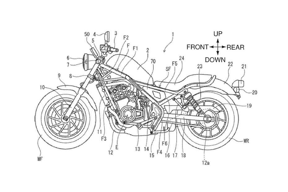 อัพเดทสิทธิบัตร New Honda Rebel 500 2020 พร้อมการออกแบบตัวถังใหม่