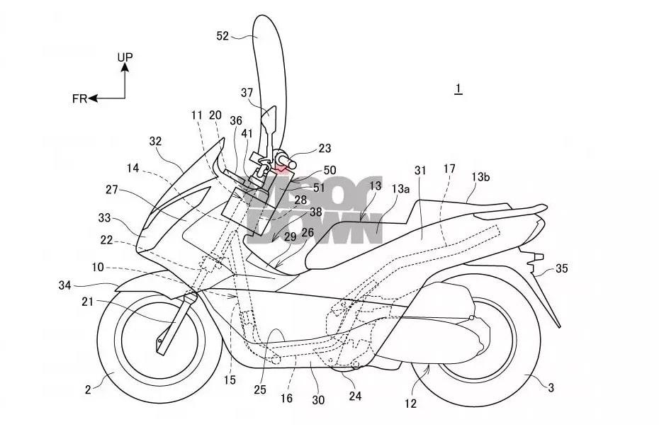 ฮอนด้าจดสิทธิบัตร ถุงลมนิรภัยขนาดกะทัดรัดในจักรยานยนต์