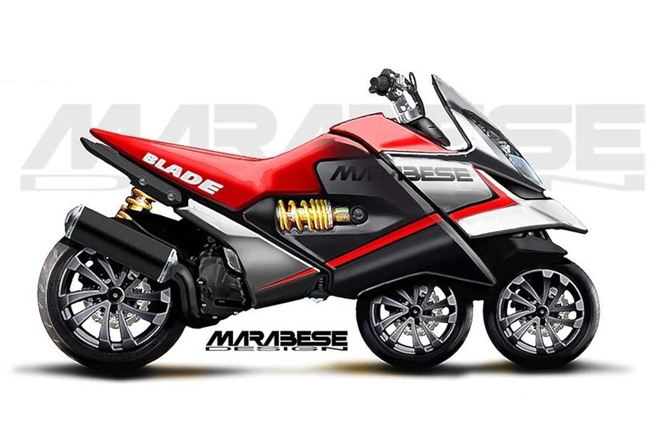 Marabese เผยแนวคิด Blade Bike รถจักรยานยนต์สามล้อแบบใหม่ ที่ไม่เหมือนใคร