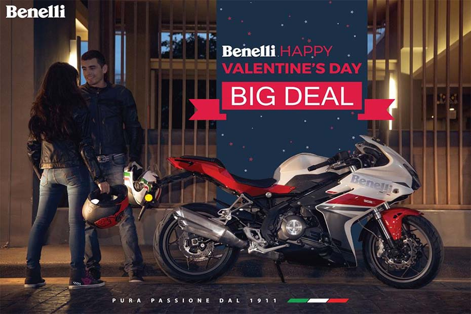 โปรโมชั่นสุดหวาน Benelli ต้อนรับเดือนแห่งความรัก เริ่มวันนี้ ถึง 29 กุมภาพันธ์ 2563