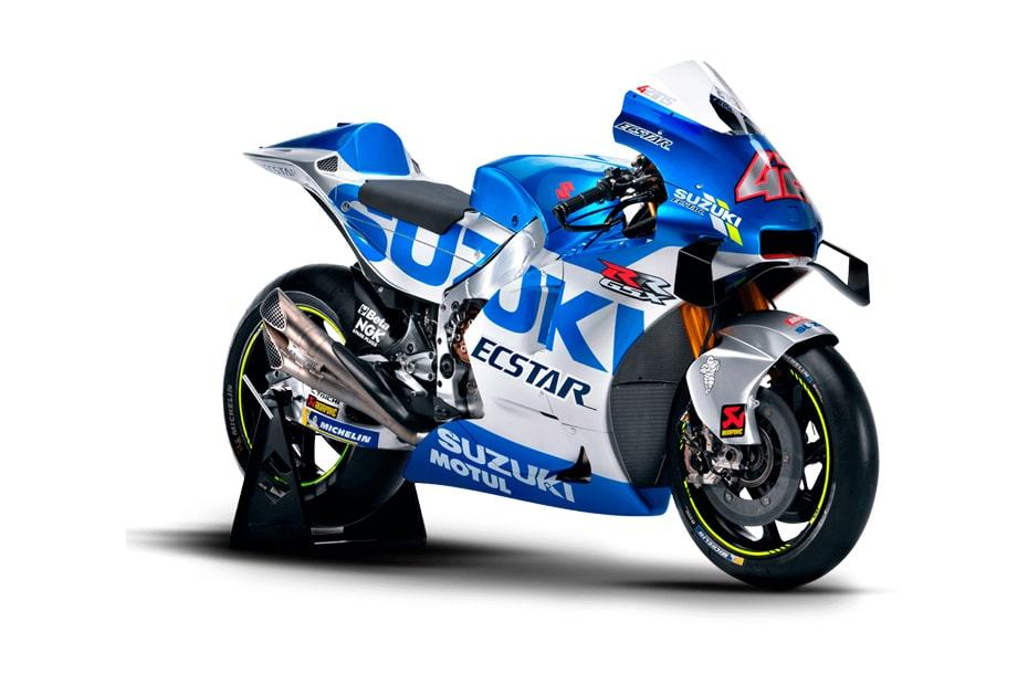 Suzuki GSX-RR 2020 MotoGP Blue Silver เฉลิมฉลองด้วยโทนสีใหม่ล่าสุดของทีม Suzuki Ecstar