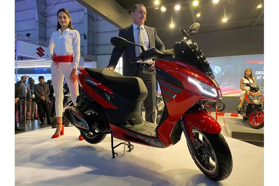 สกูตเตอร์ Aprilia SXR160 2020 เปิดตัวที่ Auto Expo 2020 ที่อินเดีย