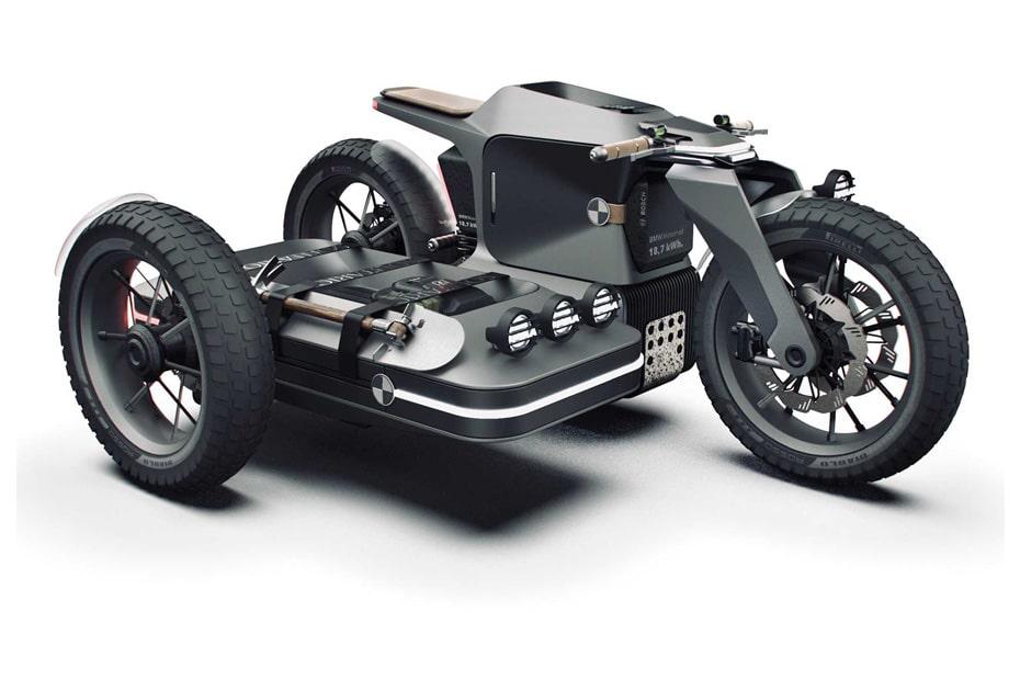 เผยภาพการออกแบบรถจักรยานยนต์ไฟฟ้า Sidecar ของ BMW อาจเป็นรุ่นใหม่