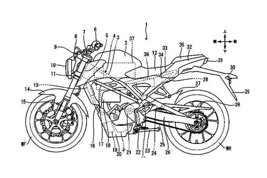 เผยสิทธิบัตร Honda CB150R เวอร์ชั่นไฟฟ้าใหม่