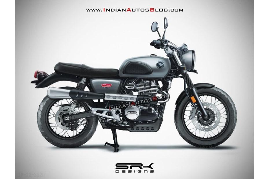 ภาพ CG จักรยานยนต์ Honda H'Ness CB350 สไตล์ Scrambler