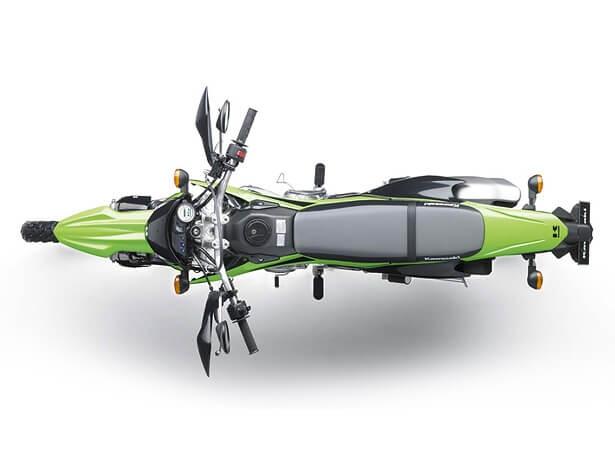 Kawasaki KLX150BF ด้านบน น้ำหนักเบา