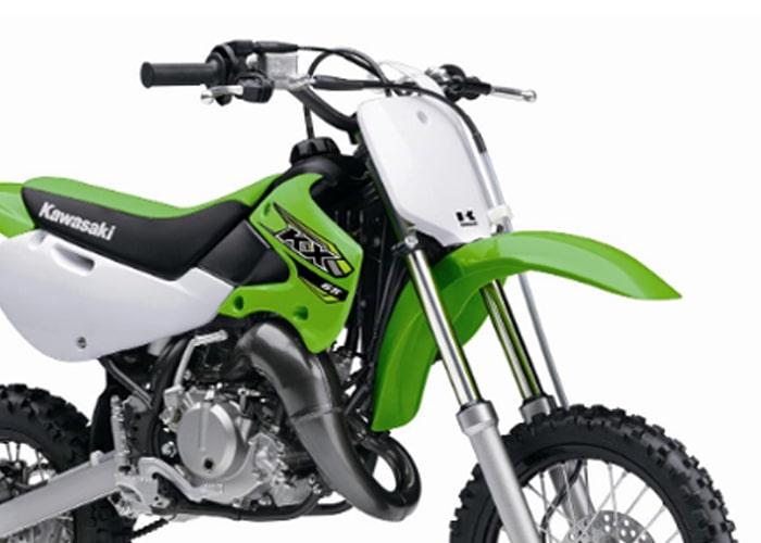 Kawasaki KX65 ด้านหน้า