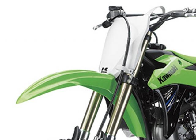 Kawasaki KX85 ด้านหน้า