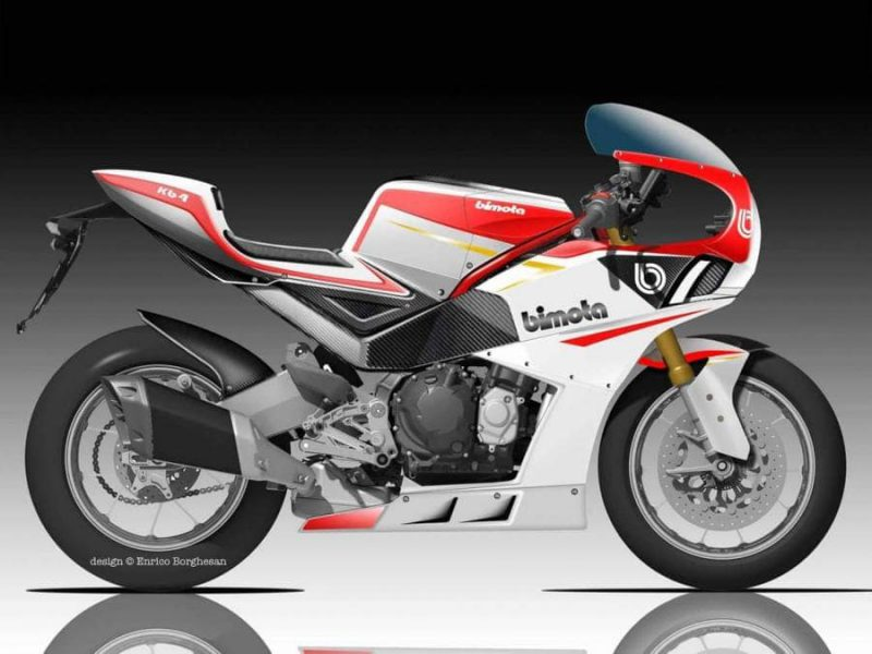 Kawasaki Ninja 1000 ขับเคลื่อนด้วย Bimota KB4 ด้านข้าง