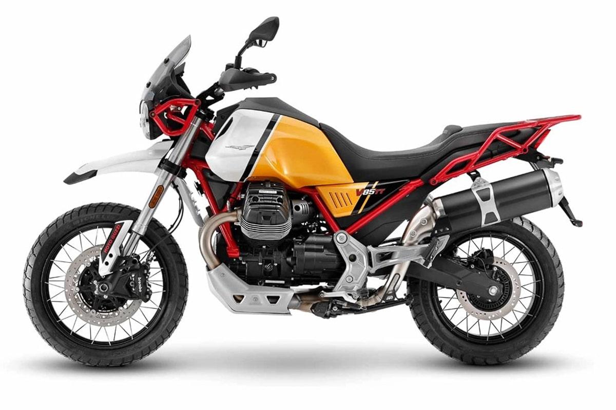 Moto Guzzi V85 TT สีขาว-เหลือง