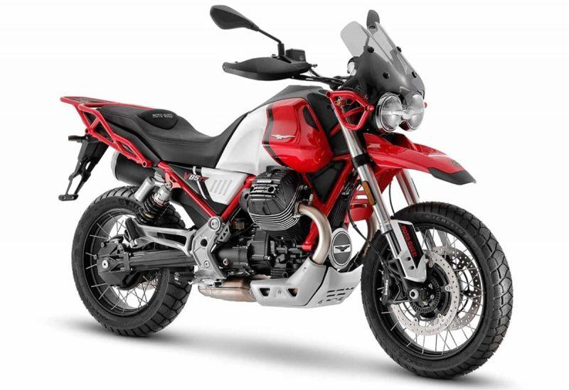 Moto Guzzi V85 TT สีขาว-แดง