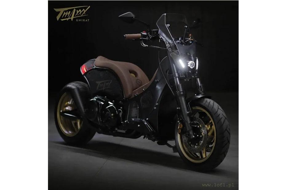 แปลงโฉม Yamaha T-Max 500cc สไตล์สกูตเตอร์ล้ำสมัย