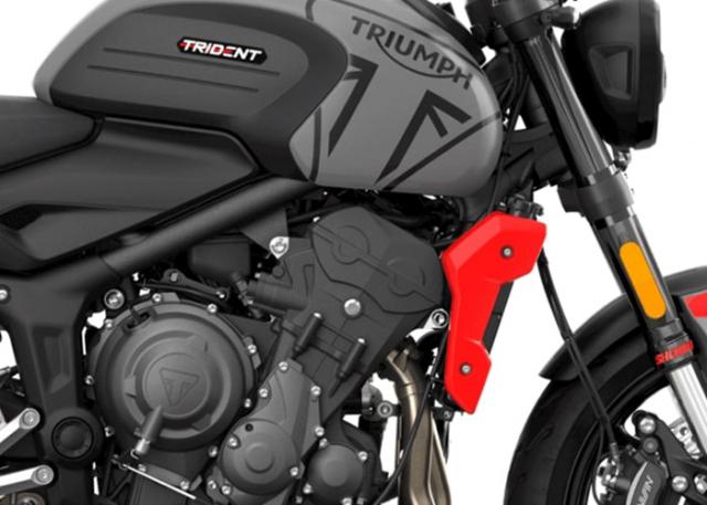 Triumph Trident 660 ปี 2021 กราฟิกด้านข้าง