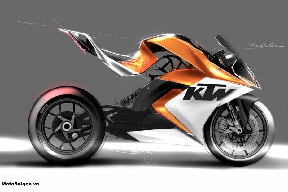 นวัตกรรมจักรยานยนต์ไฟฟ้า KTM RC8 โดยนักศึกษาชาวอินเดีย