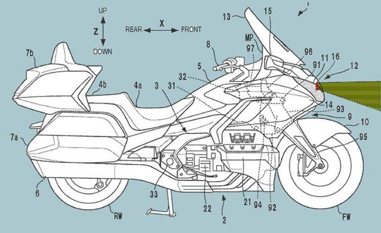Honda เปิดเผยสิทธิบัตรระบบเรดาร์ด้านหลังสำหรับ Goldwing